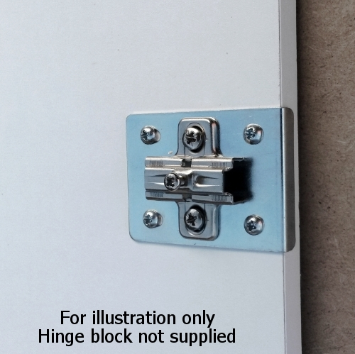 Kitchen Cabinet Hinge Repair Plates Bright Zinc Pack Of 2